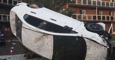 Photo of بالفيديو … من قلب اعصار اوتاوا