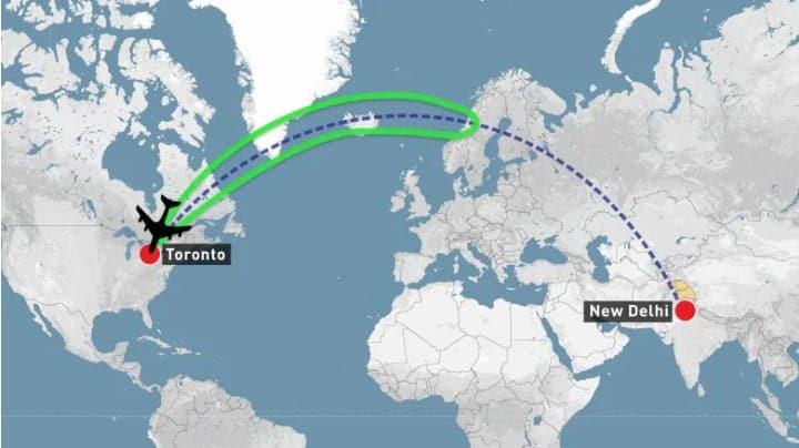Photo of عودة رحلة #طيران #كندا من منتصف طريقها إلى #الهند بسبب إغلاق #باكستان المجال الجوي