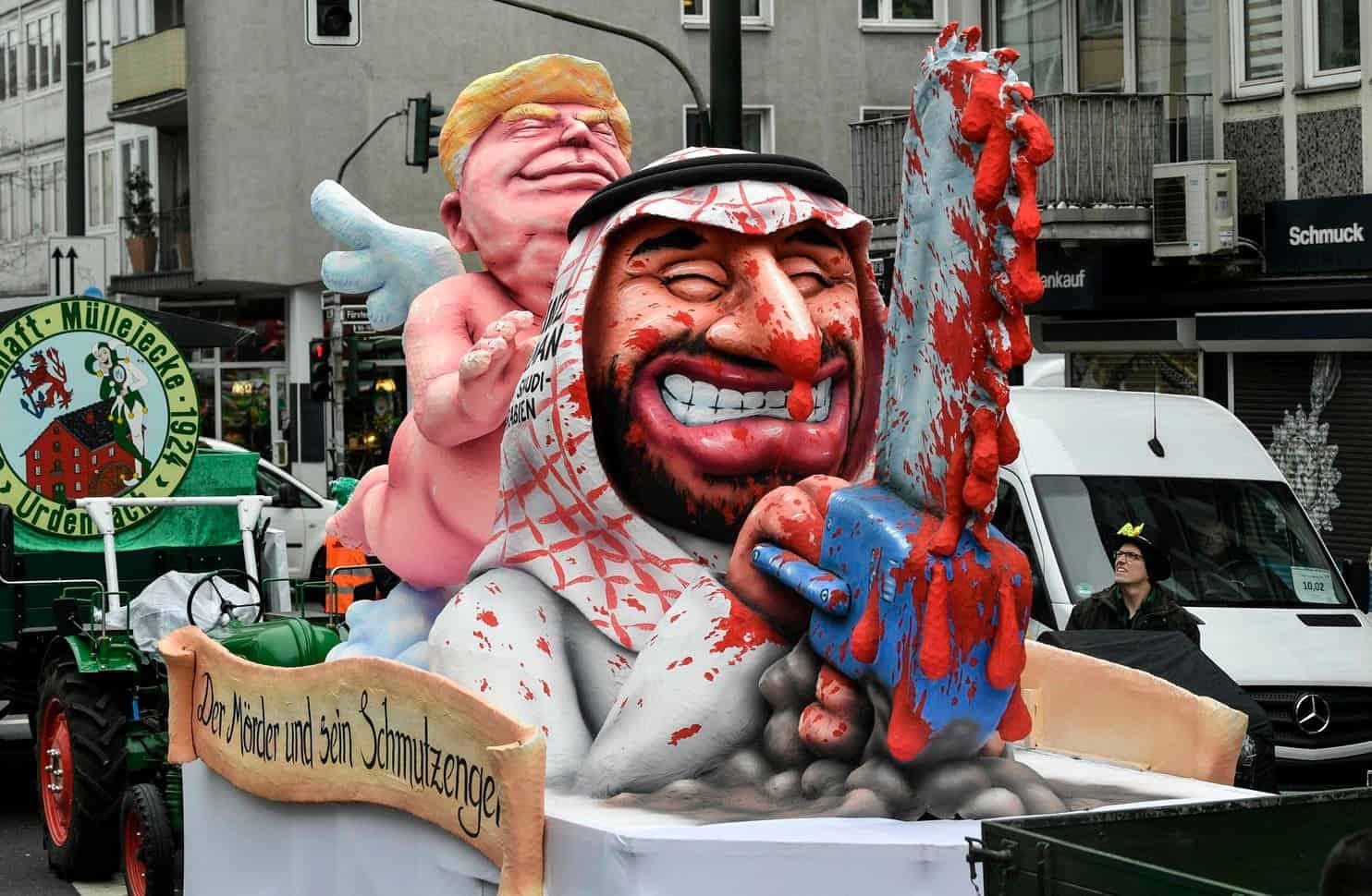 Photo of بالفيديو مهرجان المركبات في المانيا يعرض ترامب كملاك حارس لولي العهد السعودي