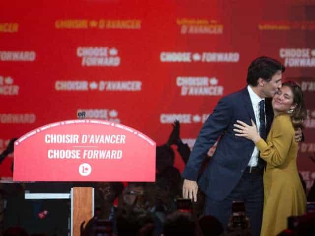 صورة احتفظ الحزب الليبرالي بزعامة جاستن ترودو بسلطة بفوزه في الانتخابات الكندية الضيقة ، لكنه سيصبح الآن رئيس وزراء حكومة الأقلية