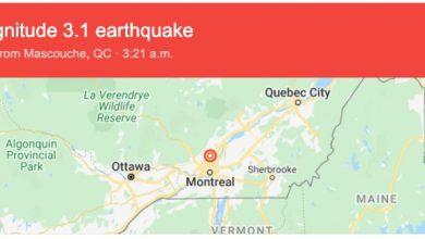 Photo of هزة ارضية بقوة ٣.١ درجة ضربت مدينة مونتريال