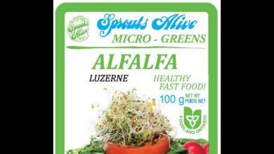 صورة تم سحب منتجات Sunsprout Micro Greens Alfalfa  بسبب احتمالية تلوثها بالسالمونيلا
